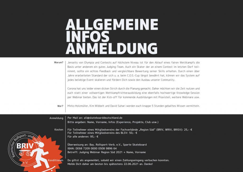 allgemeine Informationen und Anmeldung